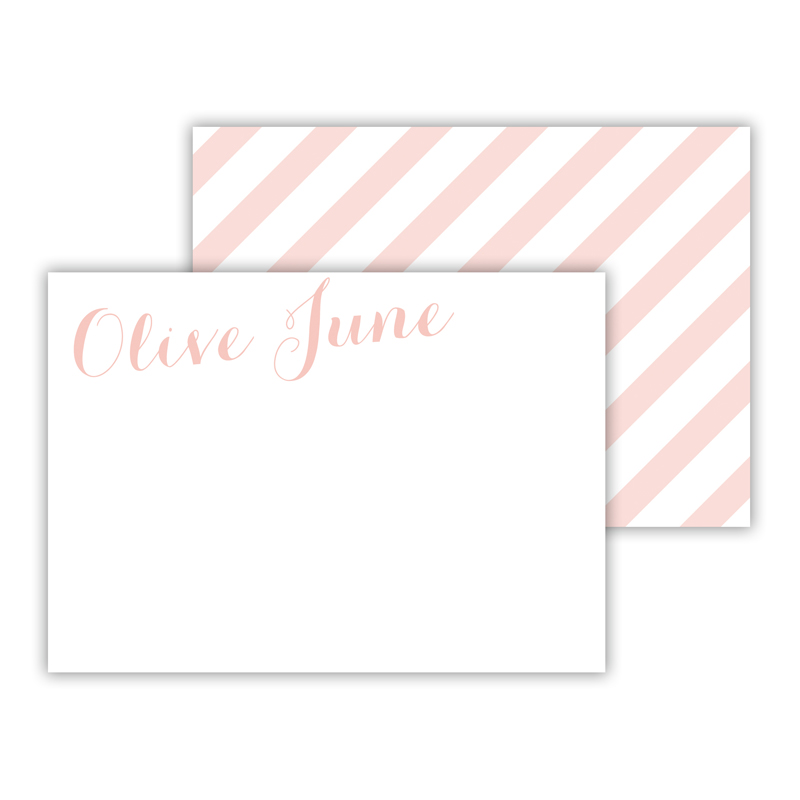 Beach Club 3 Personalized Mini Flat Card (25)