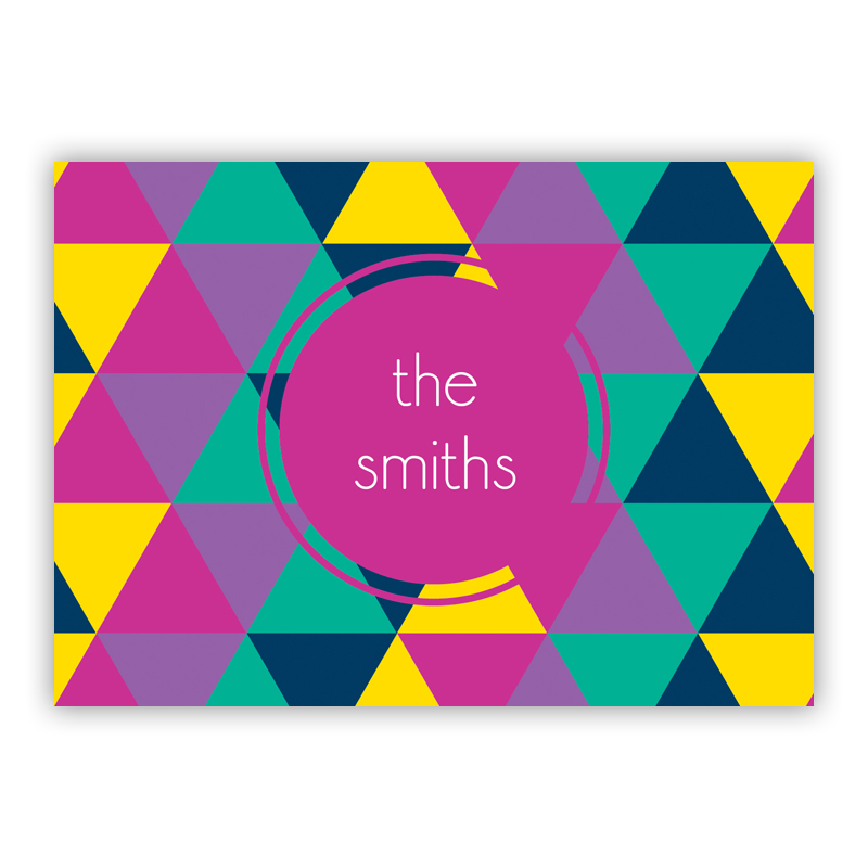 Acute Personalized Mini Folded Note Cards (25 cards)
