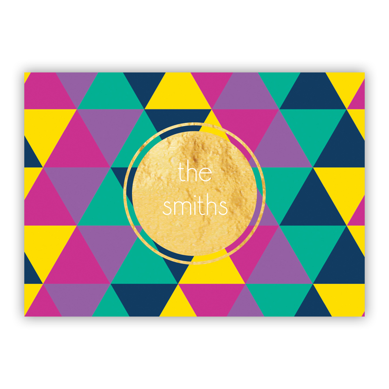 Acute Foil Personalized Mini Folded Note with Foil Accent (25 cards)