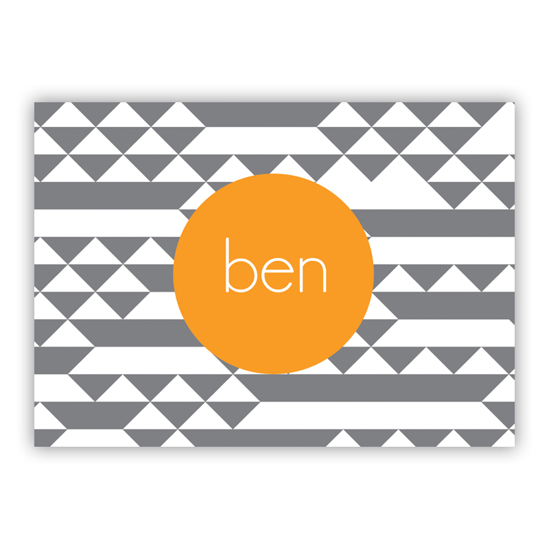 Bermuda Personalized Mini Folded Note Cards (25 cards)