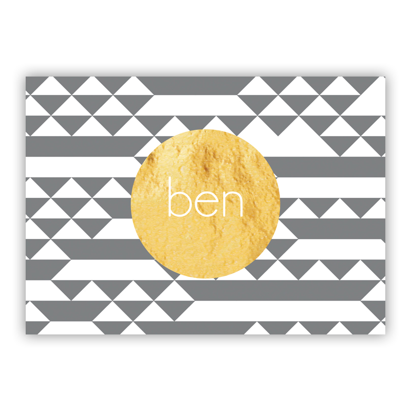Bermuda Foil Personalized Mini Folded Note with Foil Accent (25 cards)