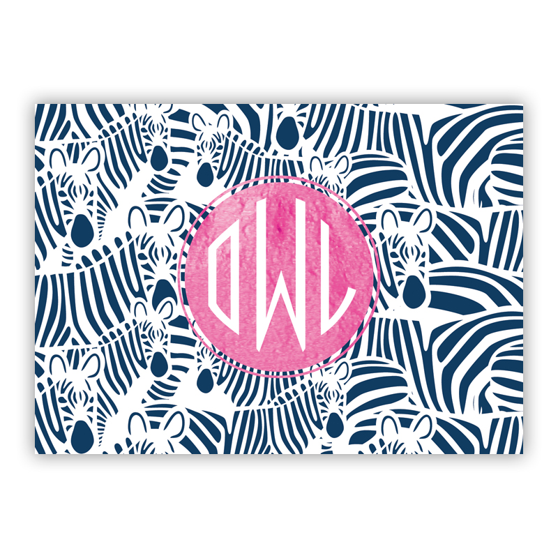 Bruno Foil Personalized Mini Folded Note with Foil Accent (25 cards)