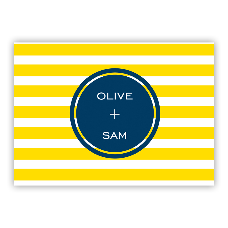 Cabana Personalized Mini Folded Note Cards (25 cards)