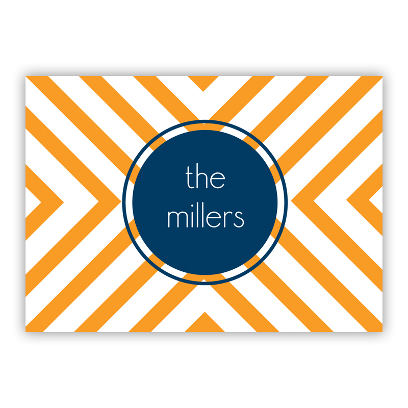 Chevron Personalized Mini Folded Note Cards (25 cards)