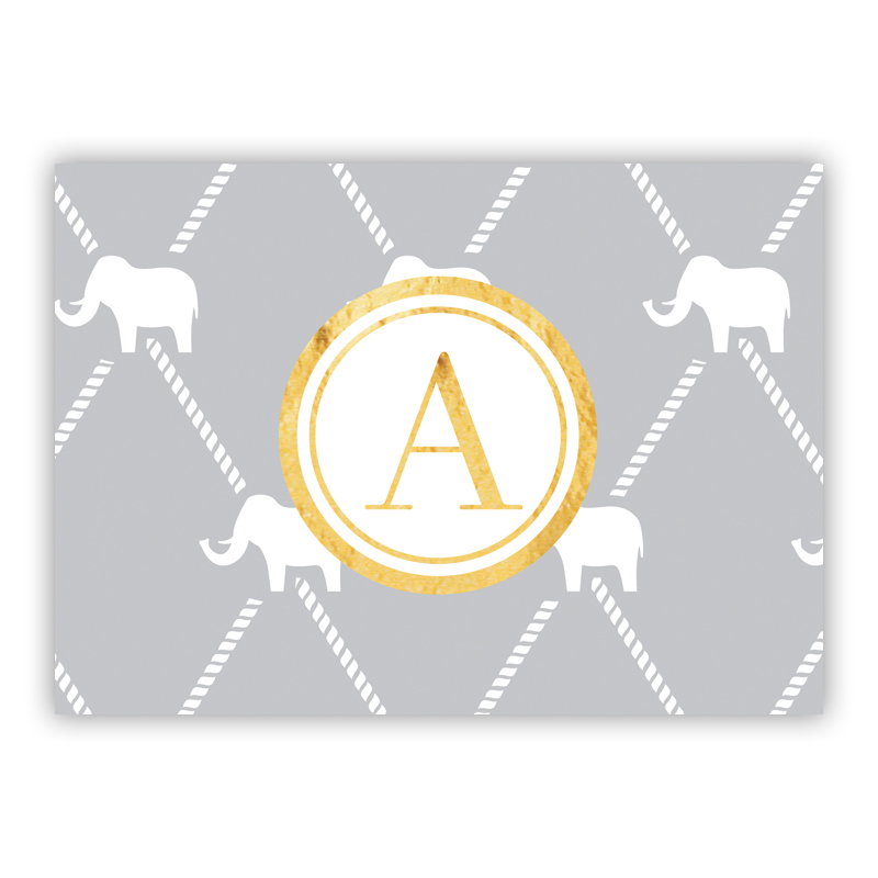 Dumbo Foil Personalized Mini Folded Note with Foil Accent (25 cards)
