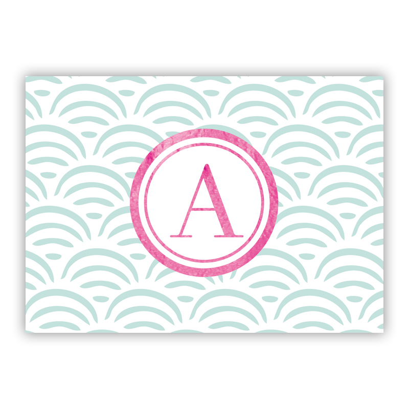 Ella Foil Personalized Mini Folded Note with Foil Accent (25 cards)