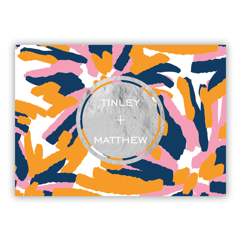 Fireworks Foil Personalized Mini Folded Note with Foil Accent (25 cards)