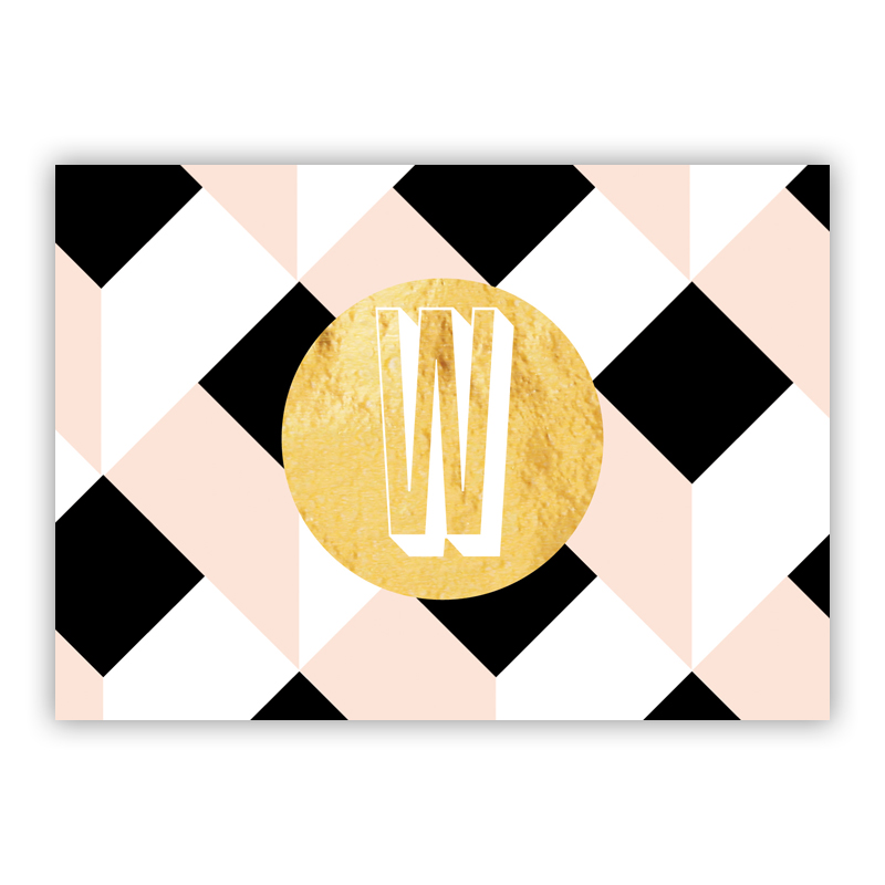 Golden Girl Foil Personalized Mini Folded Note with Foil Accent (25 cards)