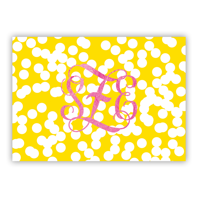 Holepunch Foil Personalized Mini Folded Note with Foil Accent (25 cards)