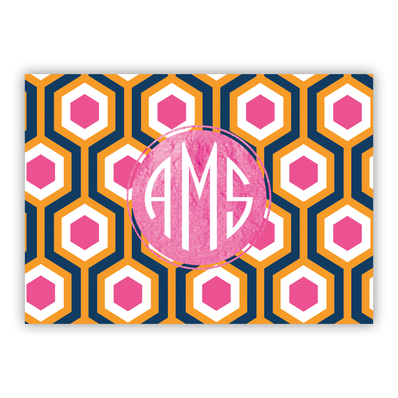 London Calling Foil Personalized Mini Folded Note with Foil Accent (25 cards)