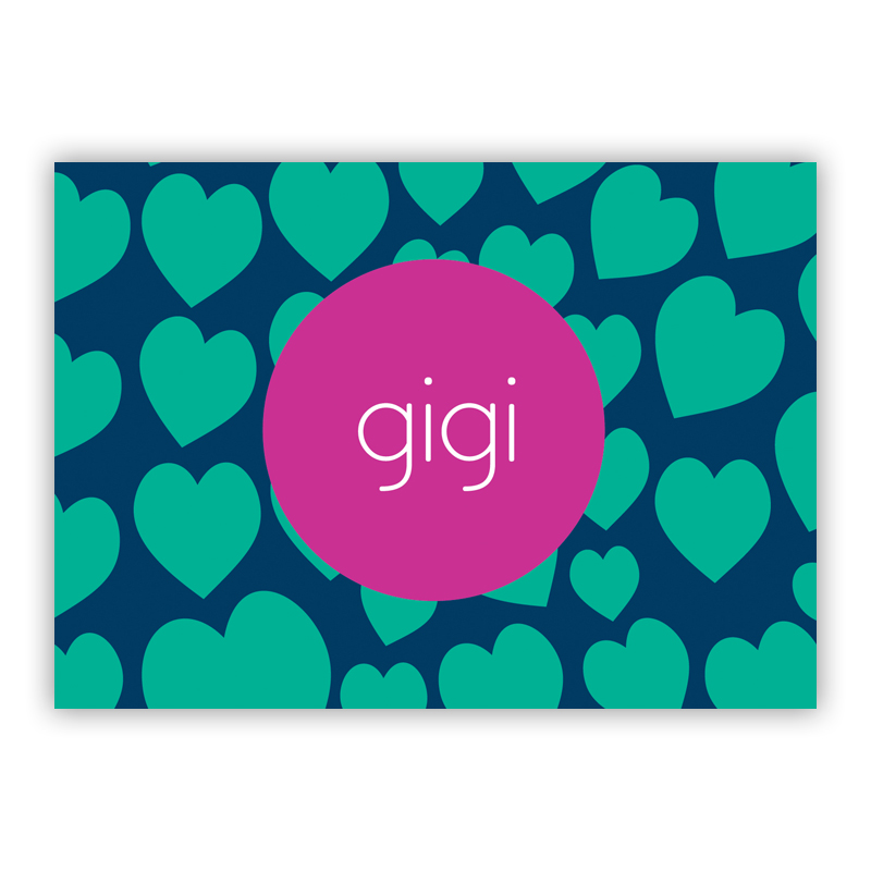 Lovestruck Personalized Mini Folded Note Cards (25 cards)