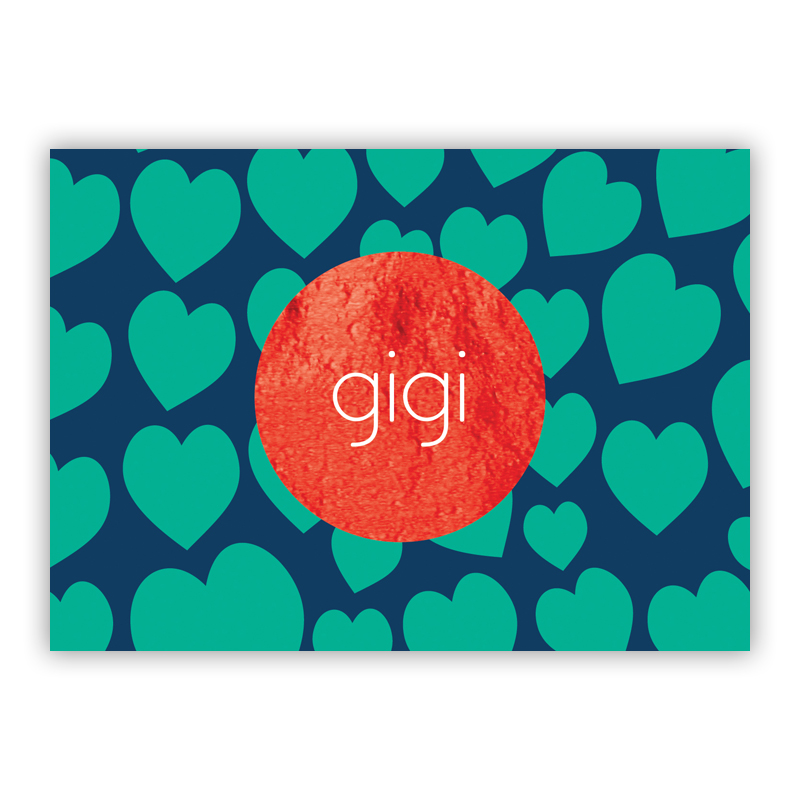 Lovestruck Foil Personalized Mini Folded Note with Foil Accent (25 cards)