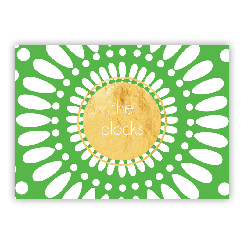 Medallion Foil Personalized Mini Folded Note with Foil Accent (25 cards)