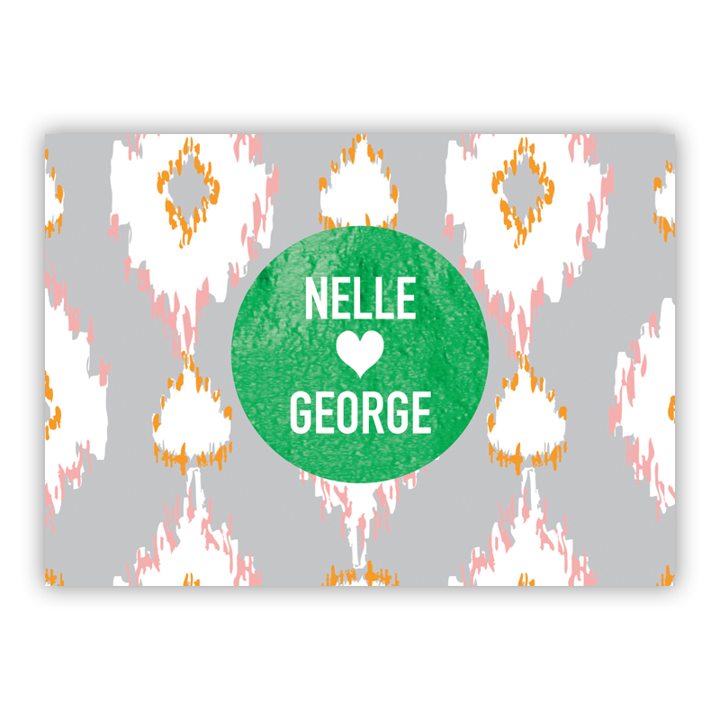 Mirage Foil Personalized Mini Folded Note with Foil Accent (25 cards)