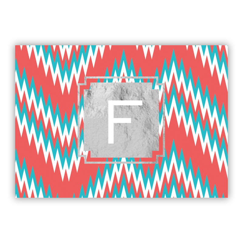 Mission Fabulous Foil Personalized Mini Folded Note with Foil Accent (25 cards)