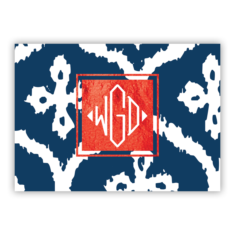 Montauk Foil Personalized Mini Folded Note with Foil Accent (25 cards)