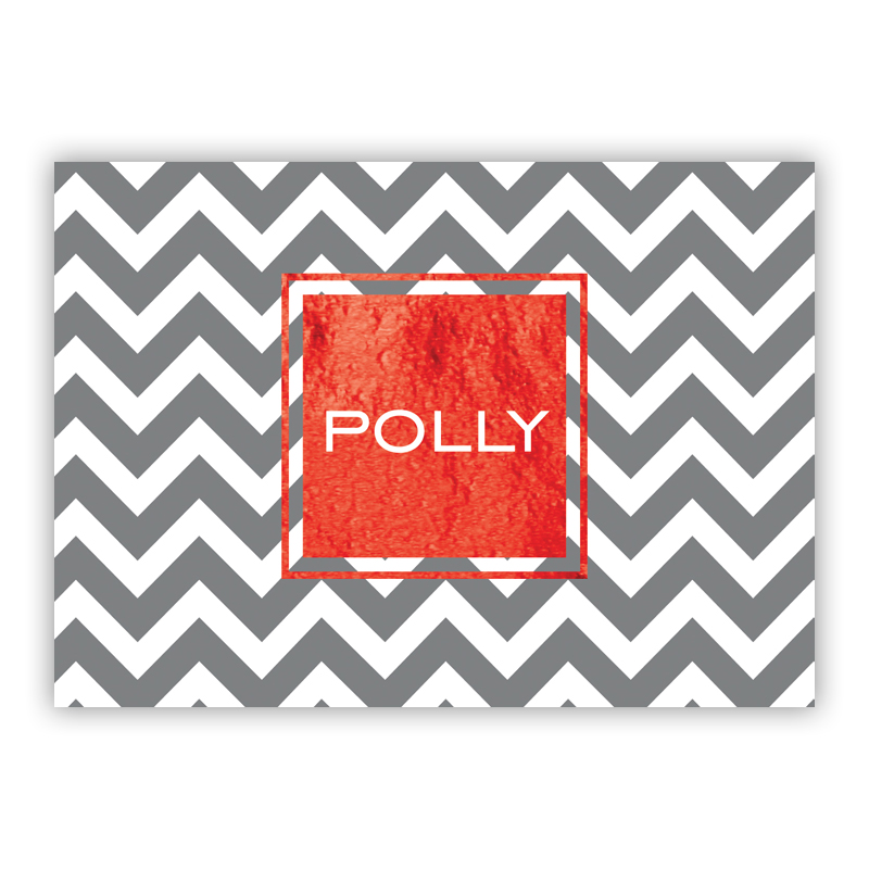Ollie Foil Personalized Mini Folded Note with Foil Accent (25 cards)