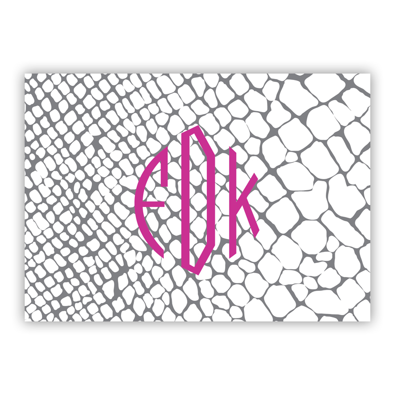 Snakeskin Personalized Mini Folded Note Cards (25 cards)