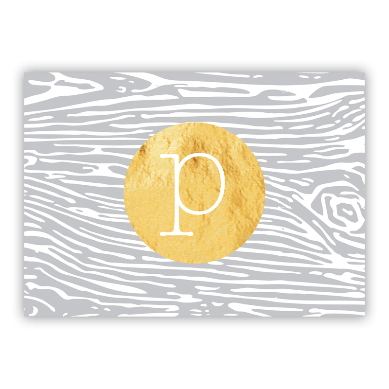 Varnish Foil Personalized Mini Folded Note with Foil Accent (25 cards)