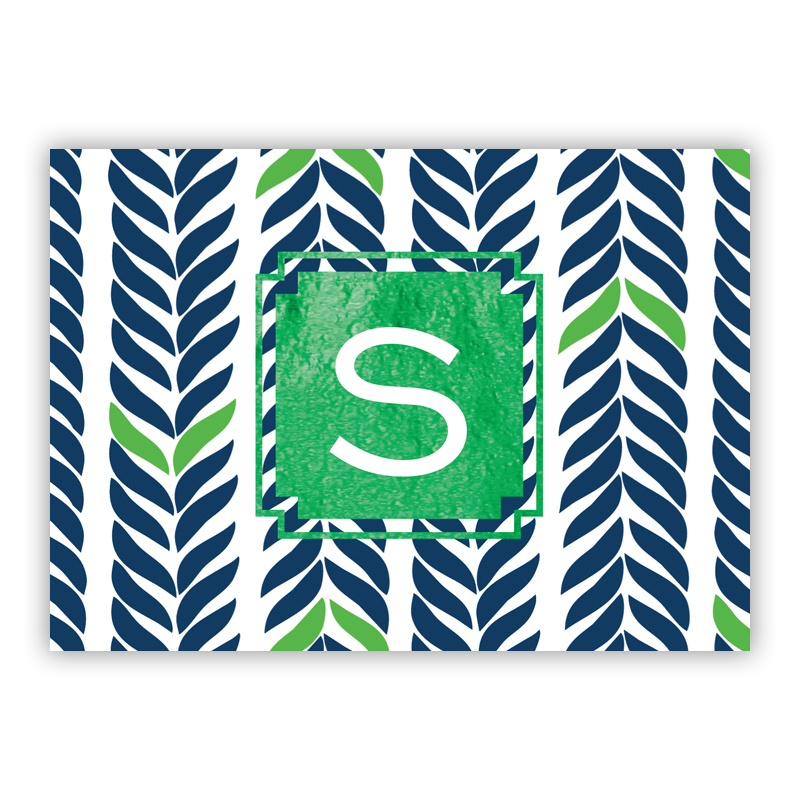 Whale Tail Foil Personalized Mini Folded Note with Foil Accent (25 cards)