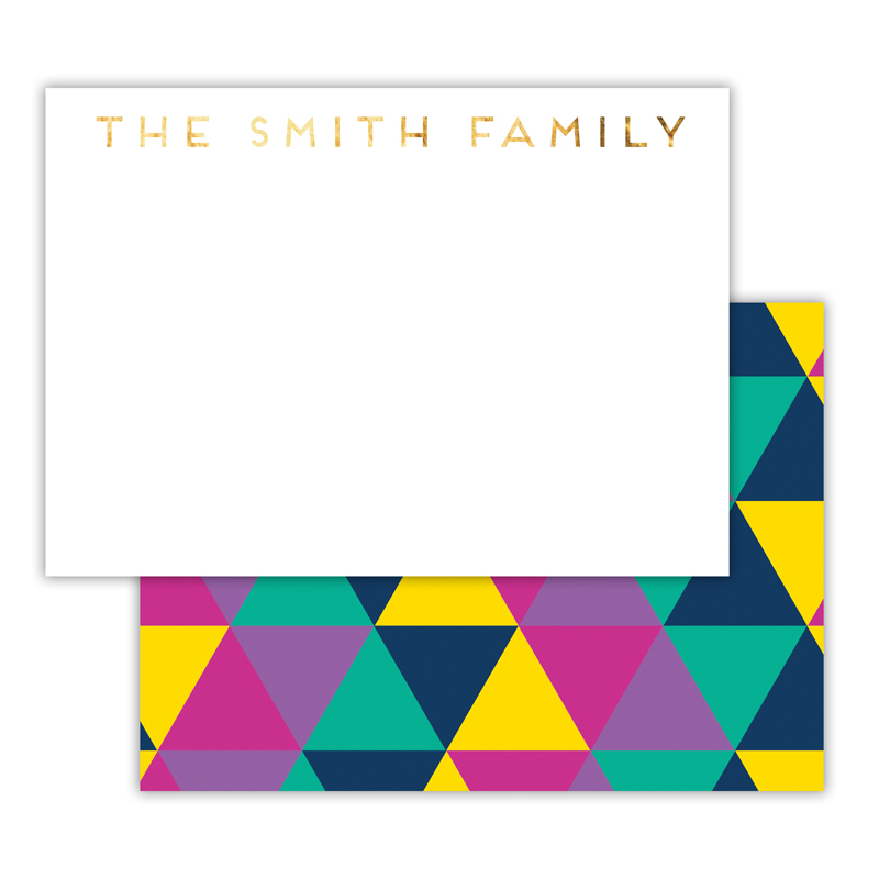 Acute Foil Personalized Deluxe Flat Card with Foil Accents (25 cards)