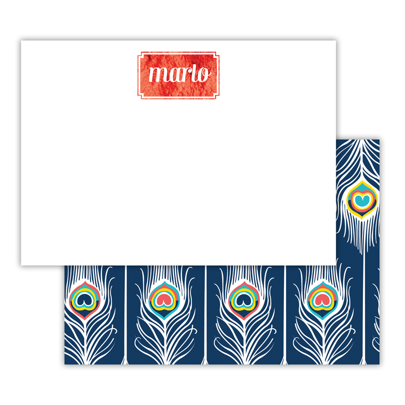 Argus Foil Personalized Deluxe Flat Card with Foil Accents (25 cards)