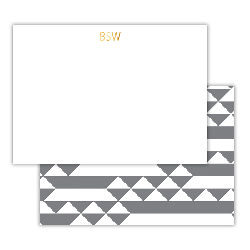 Bermuda Foil Personalized Deluxe Flat Card with Foil Accents (25 cards)