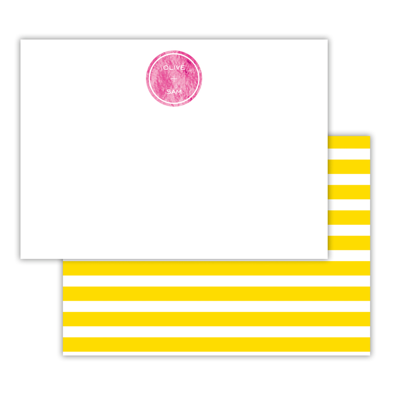 Cabana Foil Personalized Deluxe Flat Card with Foil Accents (25 cards)