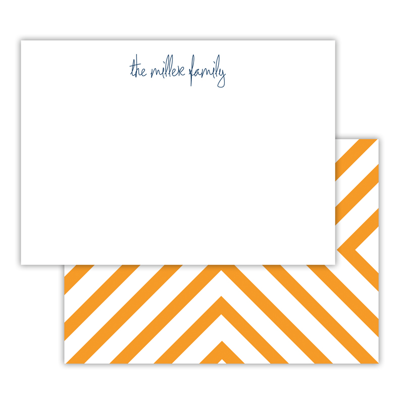 Chevron Personalized Deluxe Flat Note Card (25 cards)