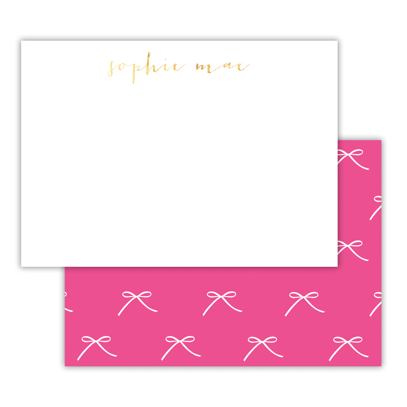 Chloe Foil Personalized Deluxe Flat Card with Foil Accents (25 cards)