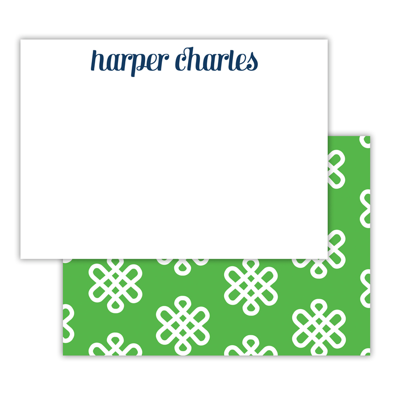Clementine Personalized Deluxe Flat Note Card (25 cards)