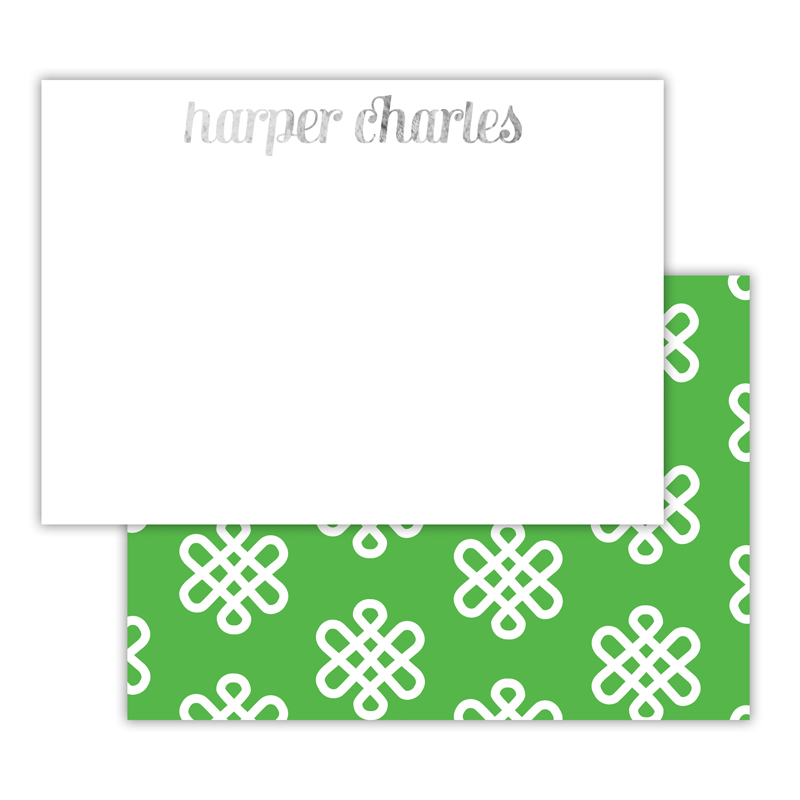 Clementine Foil Personalized Deluxe Flat Card with Foil Accents (25 cards)