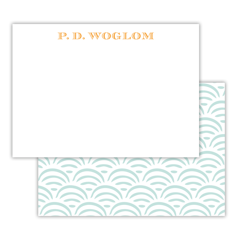 Ella Personalized Deluxe Flat Note Card (25 cards)