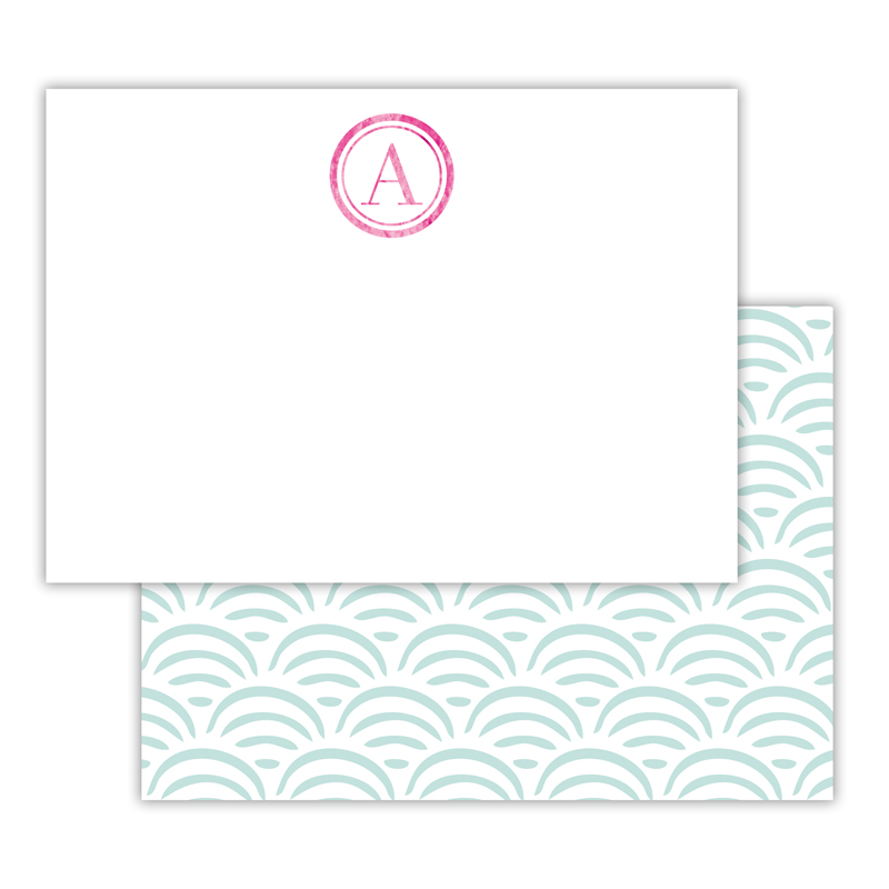 Ella Foil Personalized Deluxe Flat Card with Foil Accents (25 cards)