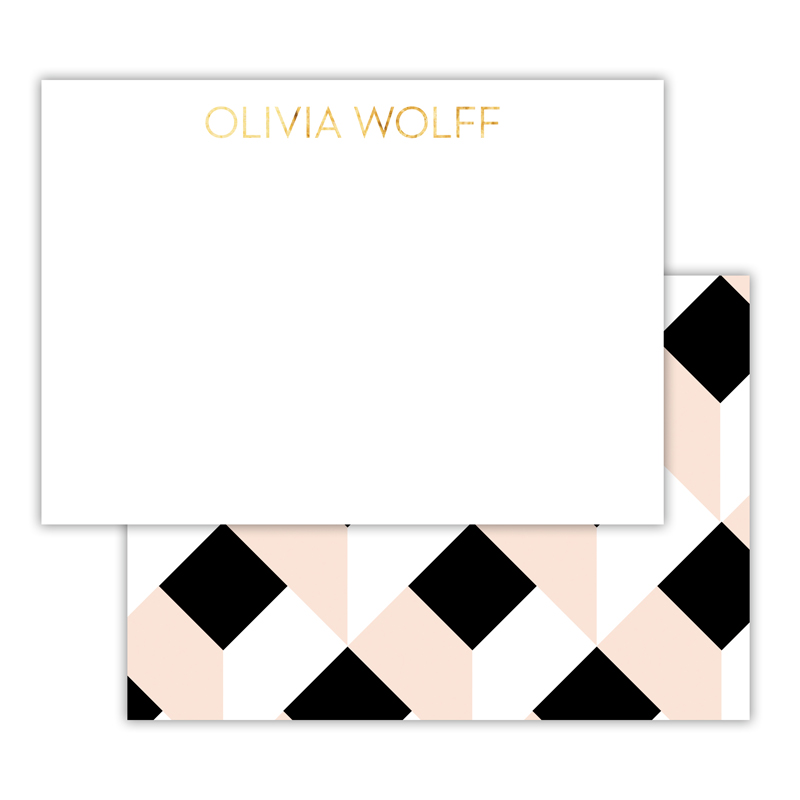 Golden Girl Foil Personalized Deluxe Flat Card with Foil Accents (25 cards)