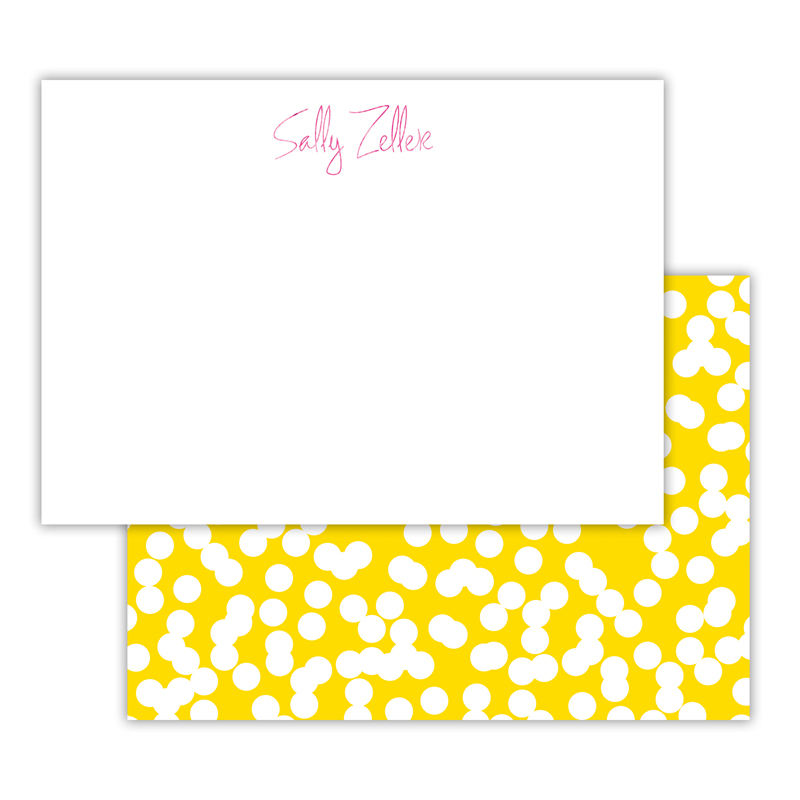 Holepunch Foil Personalized Deluxe Flat Card with Foil Accents (25 cards)