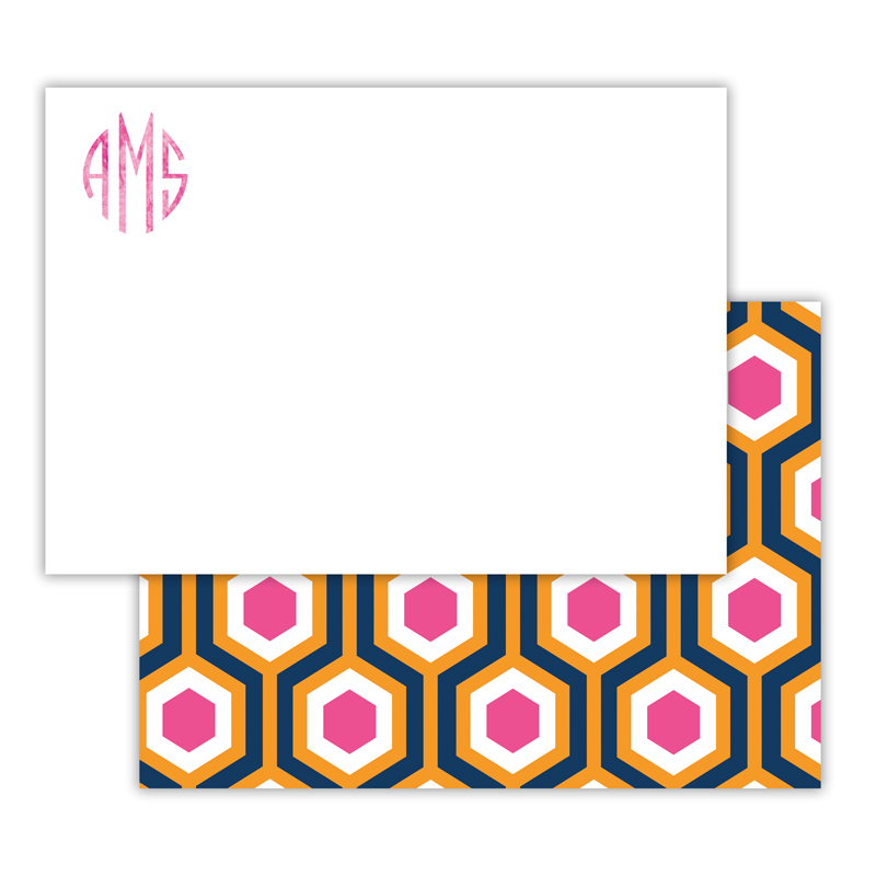 London Calling Foil Personalized Deluxe Flat Card with Foil Accents (25 cards)