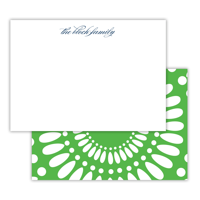 Medallion Personalized Deluxe Flat Note Card (25 cards)