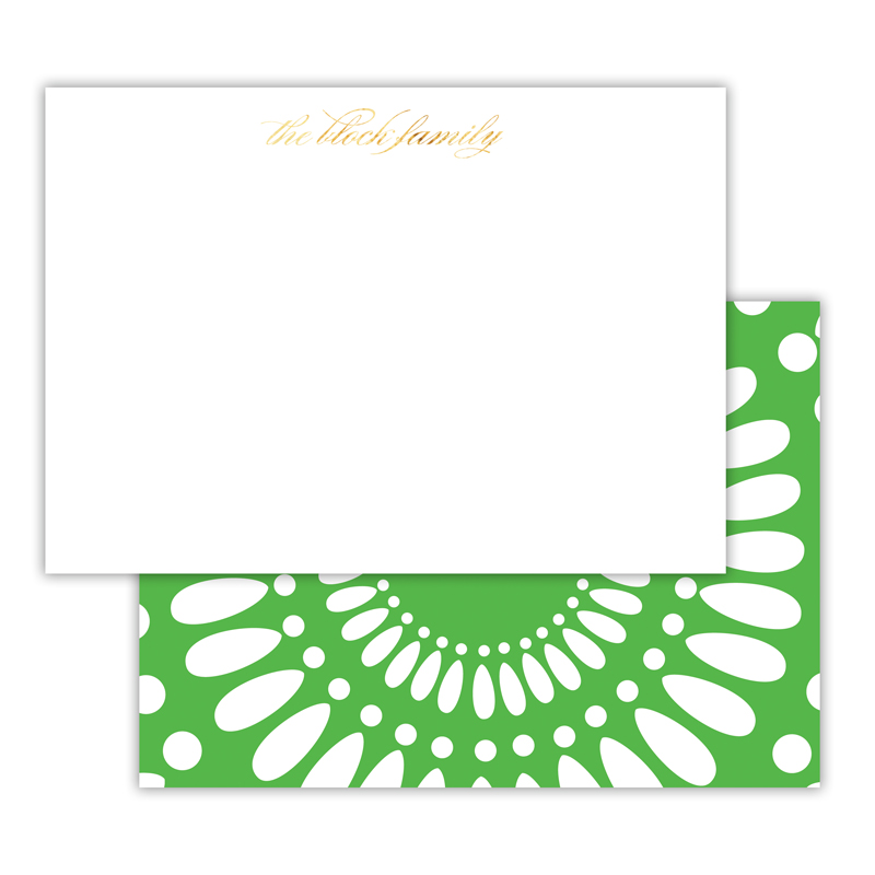 Medallion Foil Personalized Deluxe Flat Card with Foil Accents (25 cards)