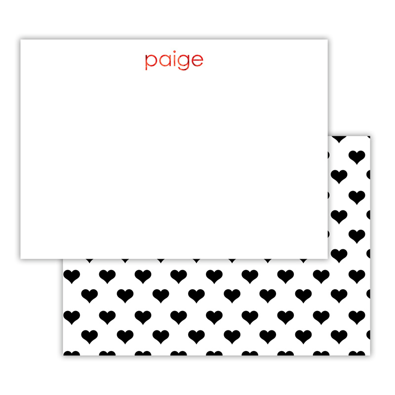 Minnie Foil Personalized Deluxe Flat Card with Foil Accents (25 cards)