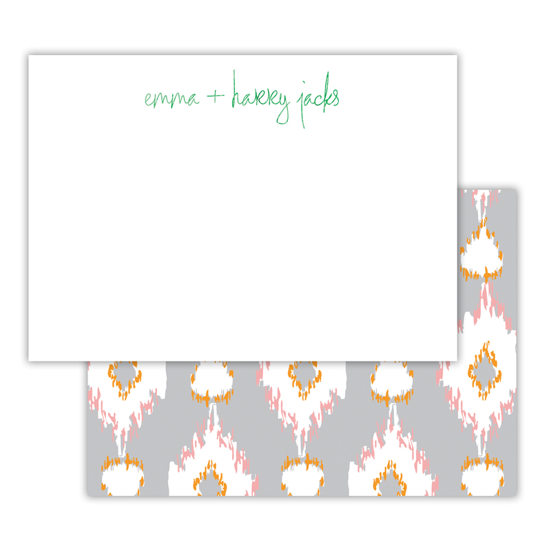 Mirage Foil Personalized Deluxe Flat Card with Foil Accents (25 cards)