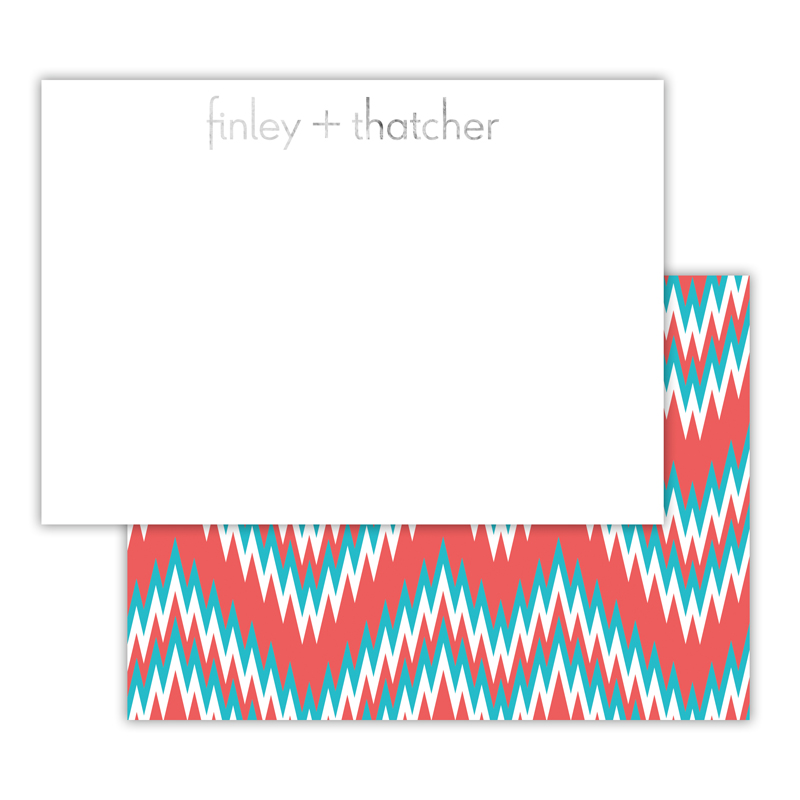 Mission Fabulous Foil Personalized Deluxe Flat Card with Foil Accents (25 cards)