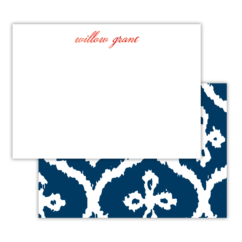 Montauk Foil Personalized Deluxe Flat Card with Foil Accents (25 cards)