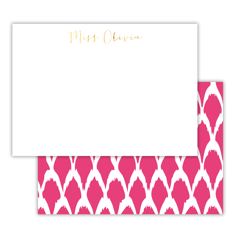 North Fork Foil Personalized Deluxe Flat Card with Foil Accents (25 cards)
