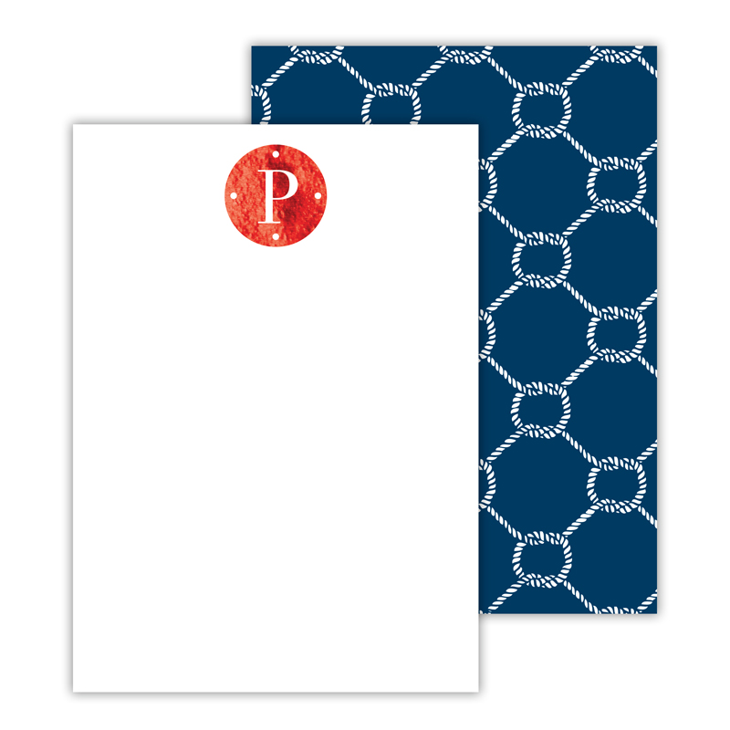 Rope Foil Personalized Deluxe Flat Card with Foil Accents (25 cards)