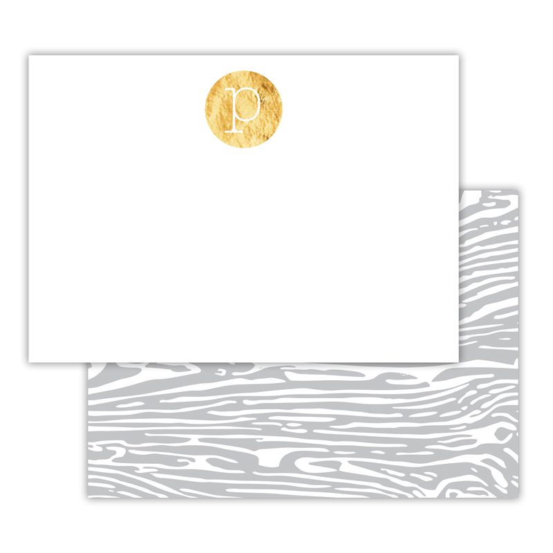 Varnish Foil Personalized Deluxe Flat Card with Foil Accents (25 cards)
