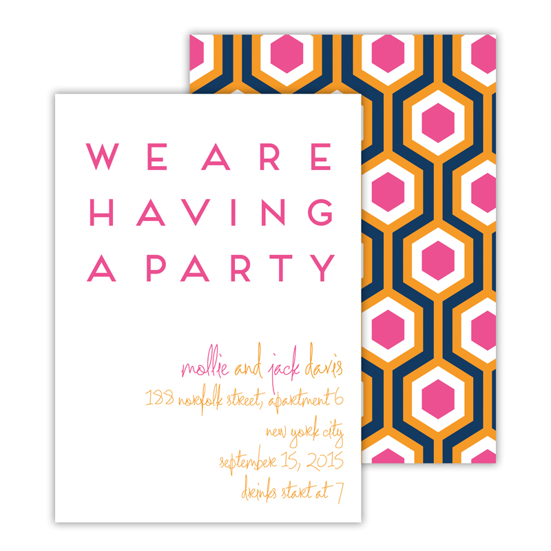 London Calling 2 Personalized Deluxe Flat Invitation or Save the Date Card (25 cards)