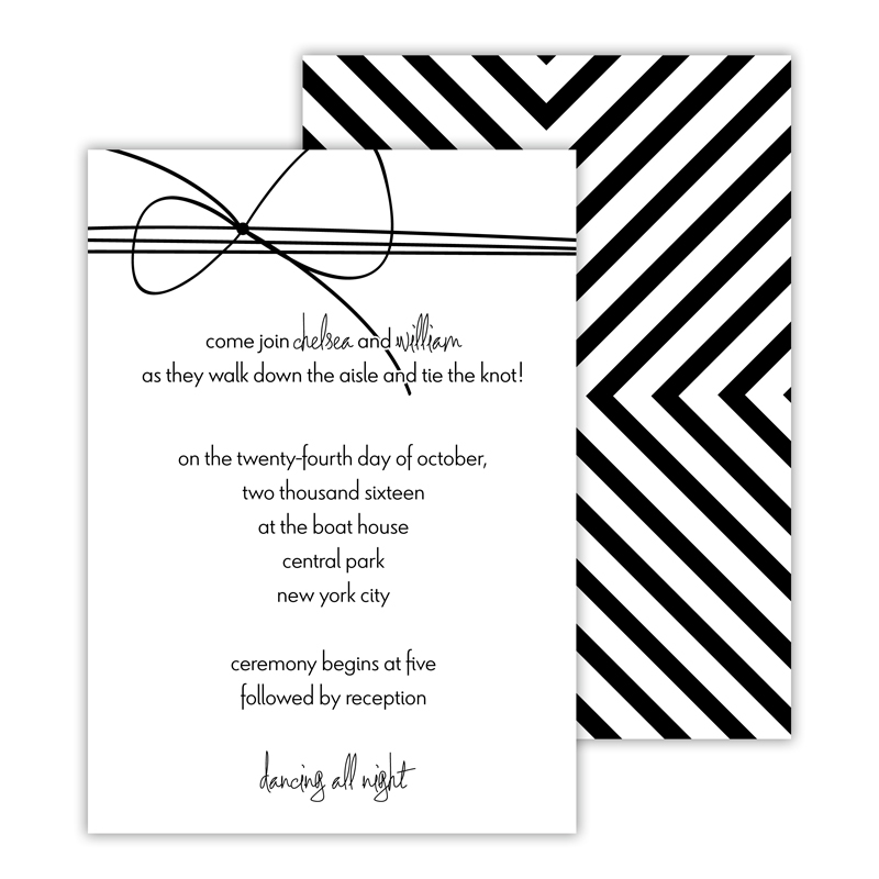 Nolita Personalized Deluxe Flat Invitation or Save the Date Card (25 cards)