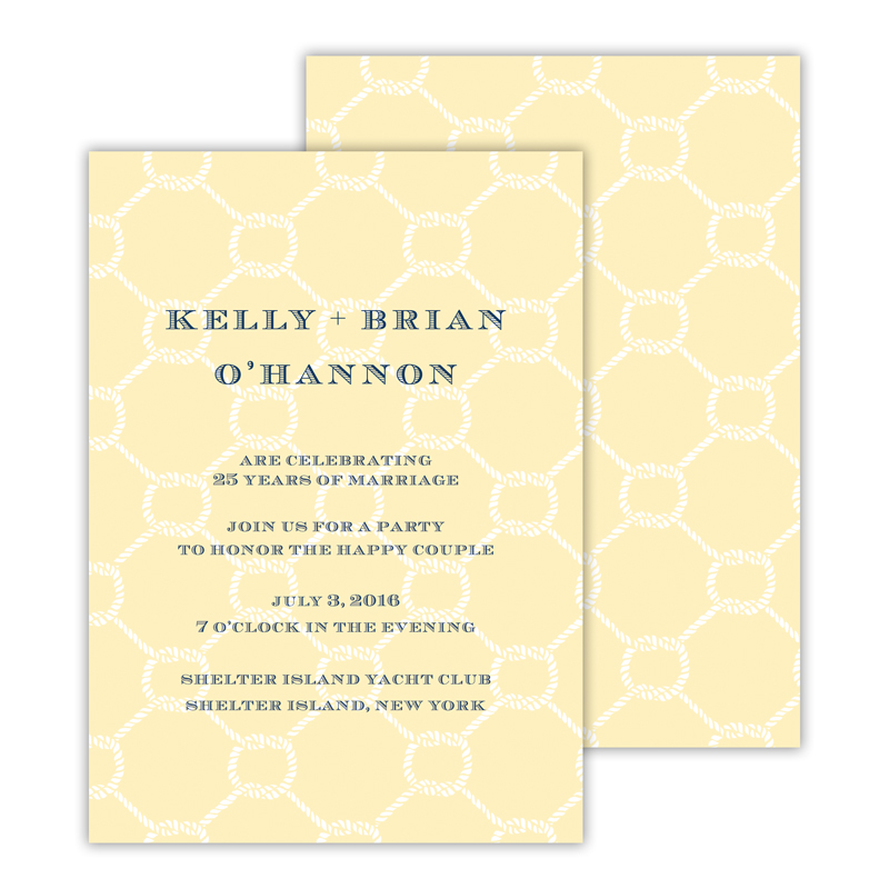 Rope 2 Personalized Deluxe Flat Invitation or Save the Date Card (25 cards)
