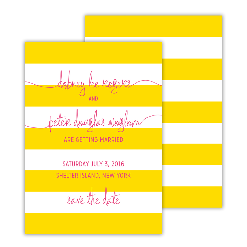 Cabana 2 Deluxe Flat Invitation or Save the Date Card (25 cards)